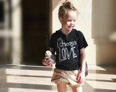 I Choose Love - Kids Love Graphic Tee Shirt - Kids Clothes - Boys Clothing - Girls Clothing - Baby and Toddler Youth