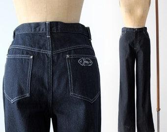 vintage 70s YES flare leg denim, waist 32
