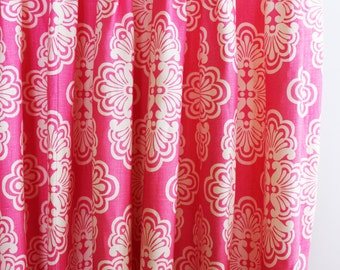 Lilly Pulitzer Shell We Custom Pleated Drapes (shown in Hotty Pink-Comes in 3 Colors)
