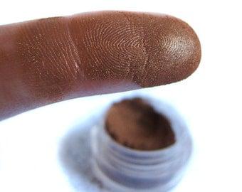 FANCY THAT Dark Brown Mineral Eyeshadow Shimmery Gold