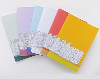 Amsterdam Journal, A5 Notebook, Blank Journal, Travel Journal, Sketchbook, Unlined Notebook, Stationery