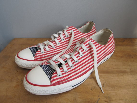 stars and stripes converse all star low top red by atomicdog67. Black Bedroom Furniture Sets. Home Design Ideas