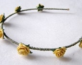 Mustard Yellow Rose Headband