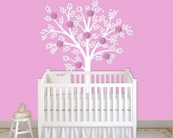 Children Wall Decal White Tree Decal Nursery Decor