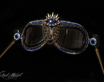Goggles ~ Blue Evil Eye  - MADE TO ORDER