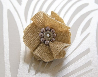 SALE - Gold Fabric Ring