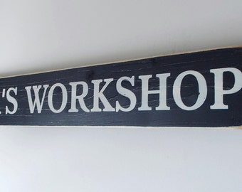 Papa's Workshop Distressed Wood Sign