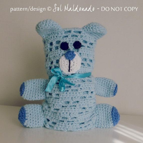 baby bear blankie pdf crochet pattern Bear amigurumi toy ...