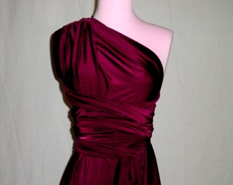 Marsala Wine Infinity Convertible Dress...Bridesmaids, Weddings, Special Occasion, Honeymoon ... 37 Colors Available