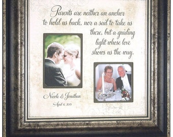Parent Wedding Gift, Wedding Gift for parents, Bride parent gift, Groom Parent Gift, Parent Wedding Frame, Mom Dad Wedding Gift, 16 X 16