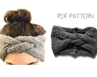 Braided Headband PDF knitting pattern by Westlake Designs