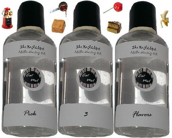 The Right Spot™ Ménage à Trois Set - Natural Vegan, water based, sensual warming edible massage oil Honeymoon Gift Set of 3 by Eat Me