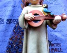 SALE****Hummel Angel Figurine Festival Harmony With Mandolin Goebel West Germany TMK5