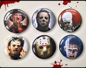 "Faces of Horror - 1"" Button Choose Your Own"