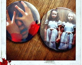 "Danny Isn't Here Mrs. Torrance- Choose a 2 1/4"" Pin Back Button"