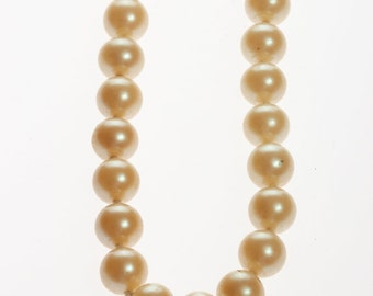 Simple Pearl Necklace Vintage - 1950s 60s Knotted Hand Strung Pearls Costume Jewelry 0053 5D