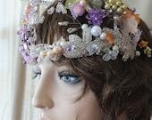 Handmade wedding tiara wedding crown fairy woodland celtic camelot crown