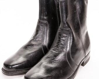 DEADSTOCK Black Beatle Boots Men's Size 7 .5 EEE ExtraWide