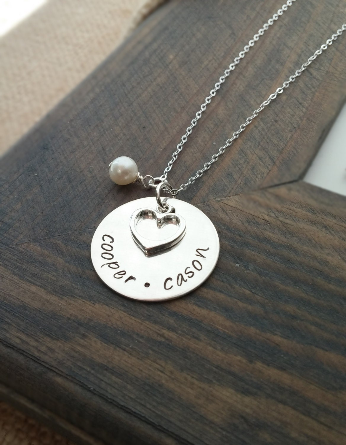 Hand stamped jewelry personalized necklace necklace with for How do you make hand stamped jewelry