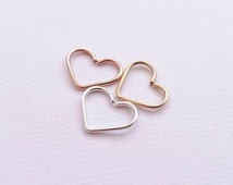 Tragus Heart Earring- Solid Sterling Silver Gold Filled Rose Gold Filled Earrings Body Jewelry Cartilage