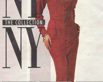 90s Womens Dress in 2 Lengths or Peplum Tunic and Pants McCalls Sewing Pattern 6231 Size 14 Bust 36 NY NY the Collection