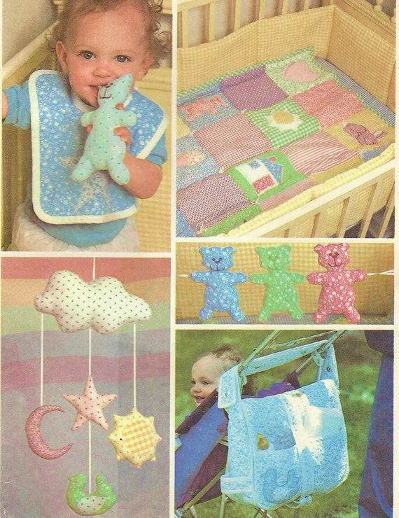1980s Baby Package Baby Quilt Crib Toys Mobile Diaper Bag