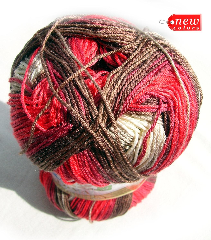 Alize Diva Batik Design Silk Effect Yarn. Hypoallergenic