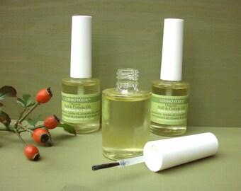 Nail & Cuticle Oil - ORGANIC - Manicure in a Bottle - Cuticle repair and Nail growth treatment - VEGAN - Handmade