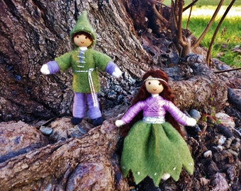 Spring Dolls, Miniature Nature Table Doll, Waldorf Bendy Dolls