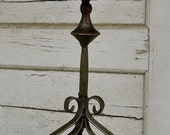 vintage tall wrought iron candle holder, wrought iron candelabra