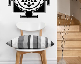 Sri Yantra Square | mandala vinyl Wall DECAL | seed Sacred geometry, sticker art, rainbow Holographic