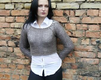 Knitting Pattern / Knitting Crop Sweater Pattern / Knitting Sweater Pattern / instant download