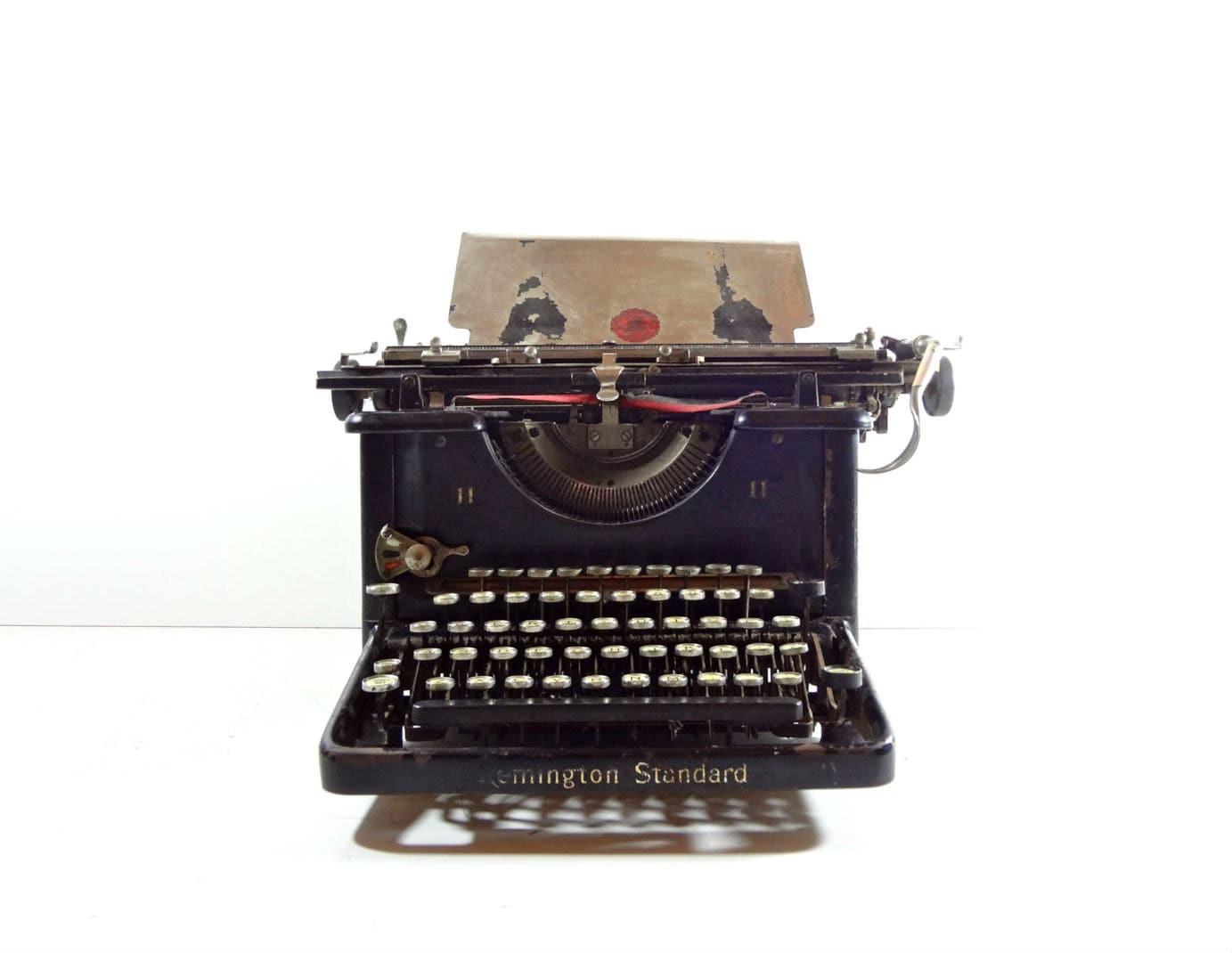 Vintage Remington Standard No  11 Manual Typewriter