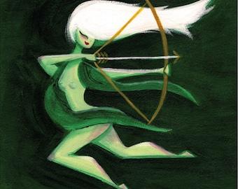 Artemis in Motion Art Print