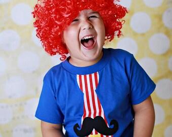 Boys Birthday Shirt Number Shirt Circus Birthday Boys Tops Blue Shirt Birthday Theme Shirt First Birthday Sizes 0-3Mo through Size 10/12