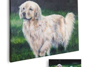 16x20 painting from photo custom pet portrait on canvas hand painted dog cat for pet lovers golden retriever art