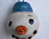 Snowman Ornament Winter Decoration Babies First Christmas