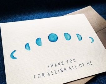 Card- Thank You for Seeing All of Me Moon Illuminations Moon Healing (set of 6)