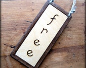 free busy REVERSIBLE ENGRAVED wood sign  - Choice of border finishes - Toilet Bathroom Loo
