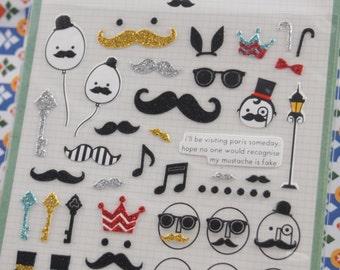 My Fake Moustache Sticker (1 sheet)