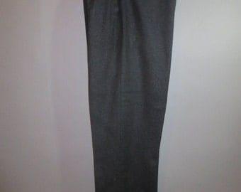 Men's Heavy Wool Pants // Ski, Hunter, Outerwear // Suspender Buttons // Metal Zipper...32X32