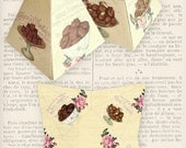Chocolates pyramid box vintage printable images instant download digital collage sheet VD0787