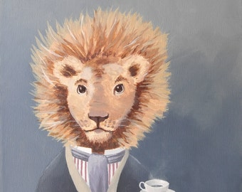 Dandy Lion. print of an original acrylic painting