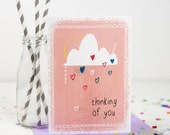 Thinking of you card - Sorry Card - Regret Card - Sympathy Card - Card For loss - Card For Friend - Bereavement Card - Bad news Card