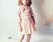 Viva Dottie Extra Full Girls Twirl Skirt and Sash in Limited Edition Pink Pin Polka Dot Cotton by Fleur + Dot