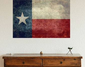 Texas State Flag Wall Sticker Decal by Bruce Stanfield