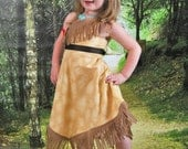 Pocahontas Dress - Sizes 2T, 3T, 4T, 5, 6, 7, 8 and 10