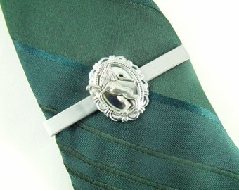 Lion Mens Tie Clip Tie Bar Rampart Lion Tie Accessory