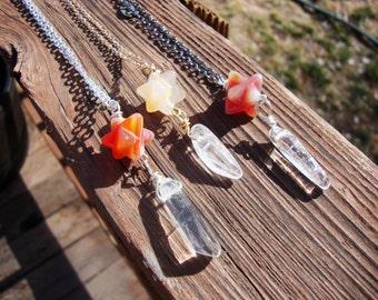 Magickal carnelian Merkaba star sacred geometry necklace pendulum