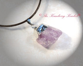 Crown Chakra Light Purple Amethyst Raw Gemstone